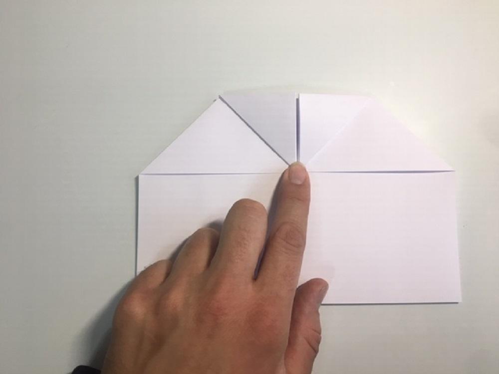 elaborar un avión de papel paso a paso facil