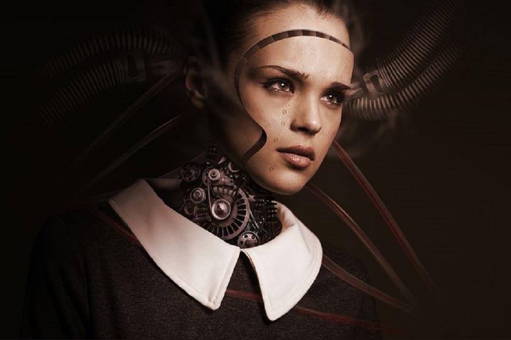 Inteligencia artificial humano cibernético.